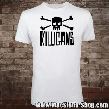 "Killigans ""Skull & Bones"" T-Shirt (white/black)"
