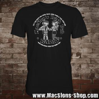 "MacSlon's ""Couple Logo"" T-Shirt (black)"