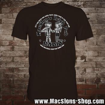 "MacSlon's ""Couple Logo"" T-Shirt (brown)"