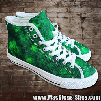 "MacSlon's ""Clover"" Girl Canvas High-Top Shoes"