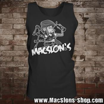 "MacSlon's ""Piper"" Man-Tank-Top (black)"