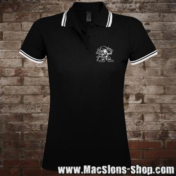 "MacSlon's ""Piper"" Girly-Polo-Shirt (black)"