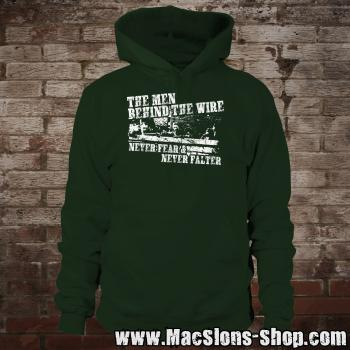"""The Men Behind The Wire"" Hoodie (green)"