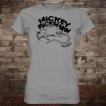 "Mickey Rickshaw ""Rat"" Girly-Shirt (grey/black)"