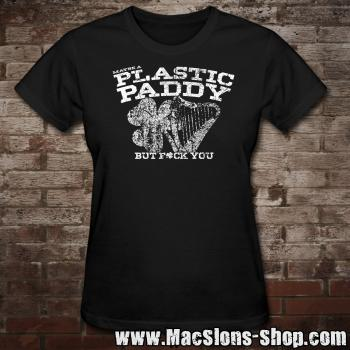 Maybe A Plastic Paddy... Girly-Shirt (black)