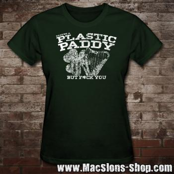 Maybe A Plastic Paddy... Girly-Shirt (green)