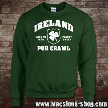 "Ireland ""Pub Crawl"" Sweatshirt (green)"