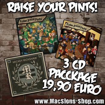 """Raise Your Pints / Mickey Rickshaw"" (3CD Package)"