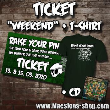 Raise Your Pints! - The Irish Folk & Celtic Punk Weekender - Ticket (Weekend + CD + T-Shirt)