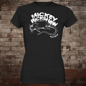 "Mickey Rickshaw ""Rat"" Girly-Shirt (black)"