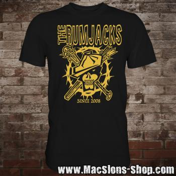 "Rumjacks ""Since 2008"" T-Shirt (gold)"
