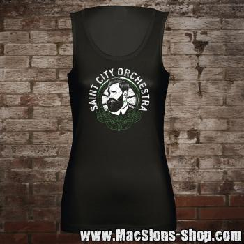 "Saint City Orchestra ""Beard Guy"" Girly-Tank-Top"