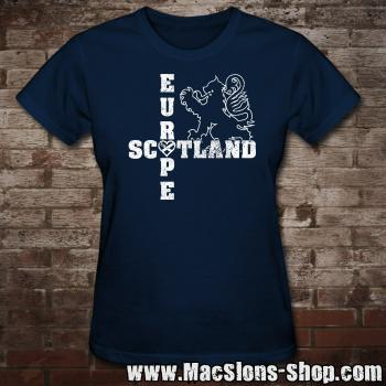 "Scotland ""Europe"" Girly-Shirt (navy)"