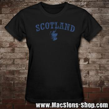 "Scotland ""Landscape"" Girly-Shirt (black-navy)"