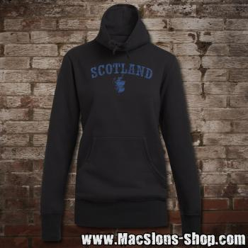 "Scotland ""Landscape"" Girly Sweater Turtleneck (black/blue)"