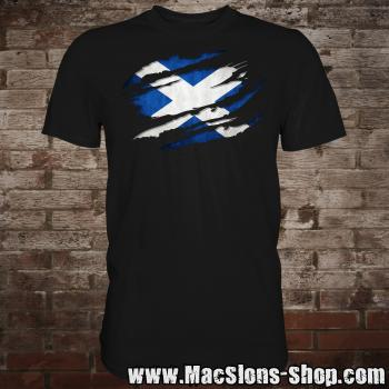 "Scotland ""Scratch"" T-Shirt (black)"