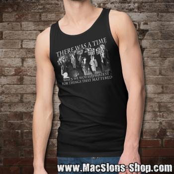 """There Was A Time When We Would Protest For Things That Mattered"" Tank-Top (black)"