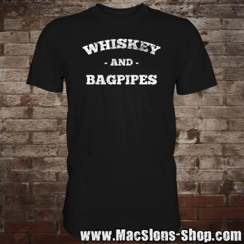 """Whiskey & Bagpipes"" T-Shirt (black)"