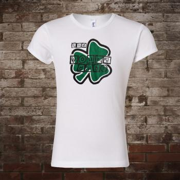 "Young Dubliners ""Shamrock"" Girly-Shirt (white)"