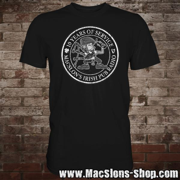 "MacSlon's ""10 Years Of Service"" T-Shirt (black)"