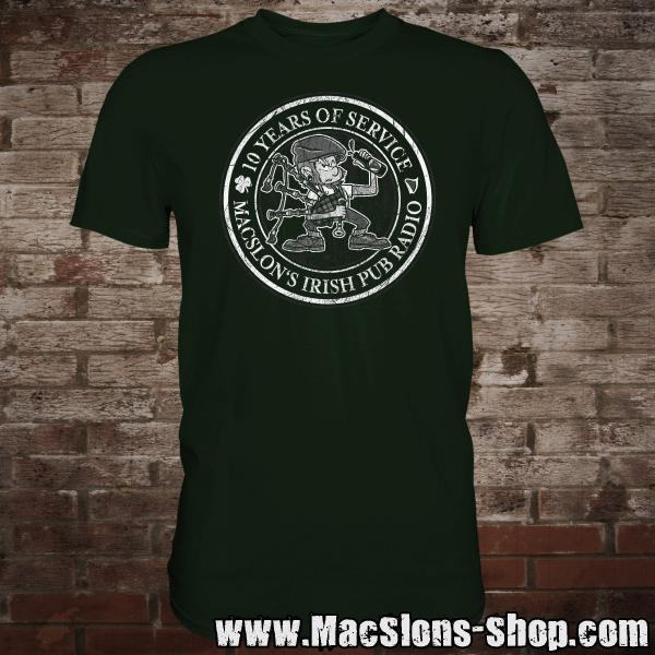 "MacSlon's ""10 Years Of Service"" T-Shirt (green)"
