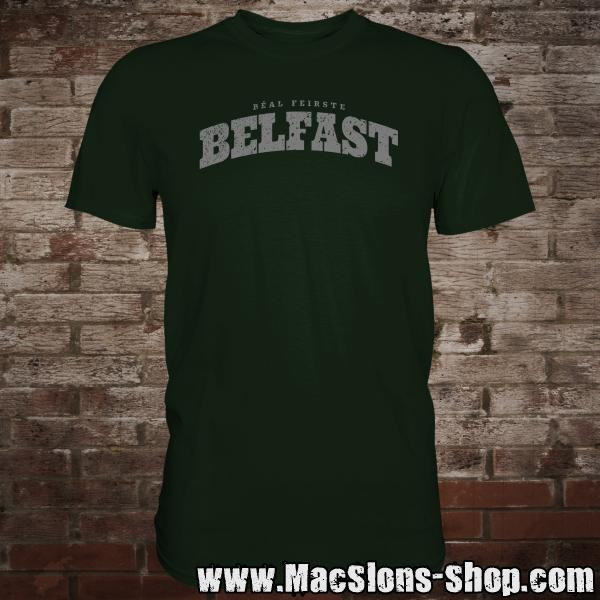 "Cities Of Ireland ""Belfast"" T-Shirt (green/grey)"