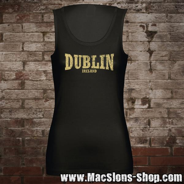 "Dublin ""Ireland"" Girl-Tank-Top (black/beige)"