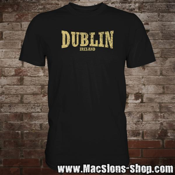 "Dublin ""Ireland"" T-Shirt (black/beige)"