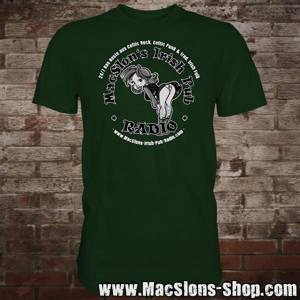 "MacSlon's ""Irish Girl Logo"" T-Shirt (green)"