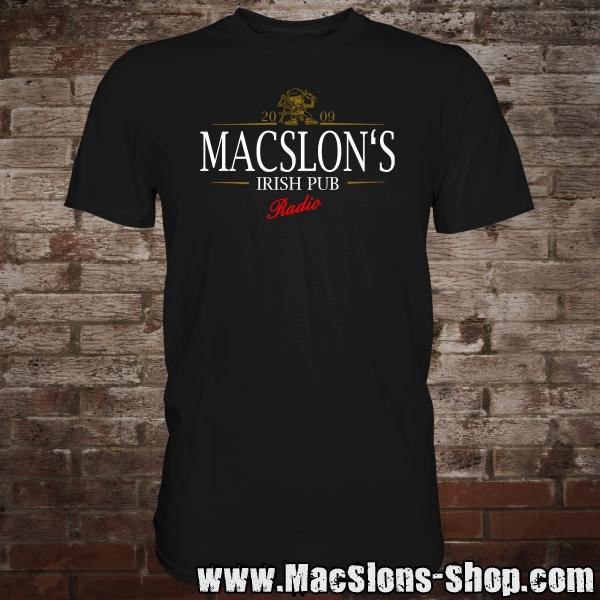 "MacSlon's ""Stout Logo"" T-Shirt (black)"