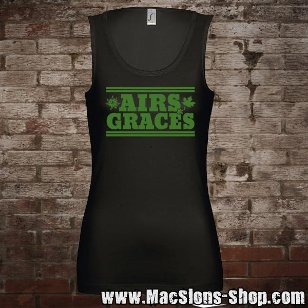 "Airs and Graces ""Logo"" Girl-Tank-Top (black)"