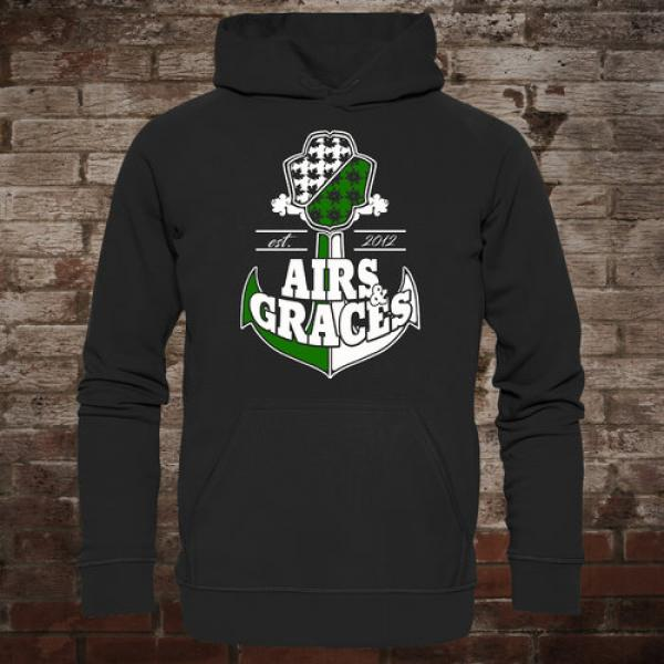 "Airs and Graces ""Anchor"" Hoodie (black)"