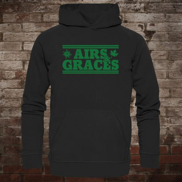 "Airs and Graces ""Logo"" Hoodie (black)"
