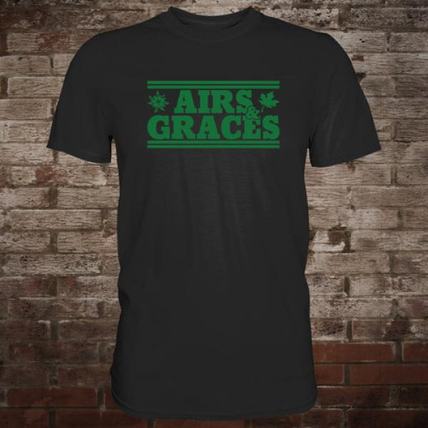 "Airs and Graces ""Logo"" T-Shirt (black)"