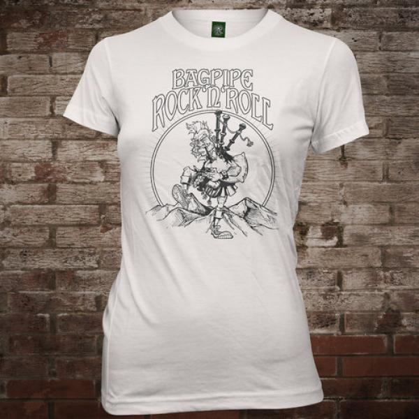 "MacSlon's ""Bagpipe Rock'n'Roll"" Girly-Shirt"