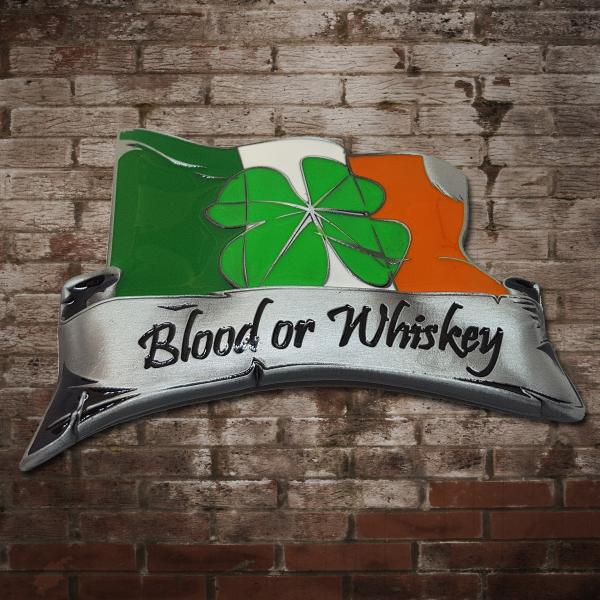 "Blood Or Whiskey ""Shamrock"" Gürtelschnalle"