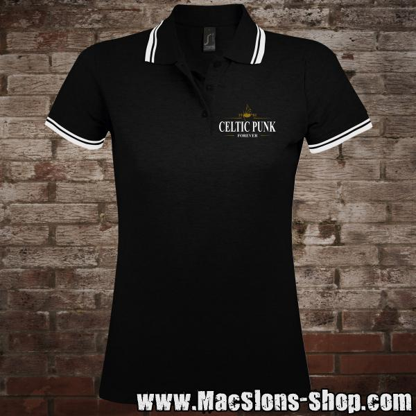 "MacSlon's ""Celtic Punk - Forever"" Girly-Polo-Shirt"
