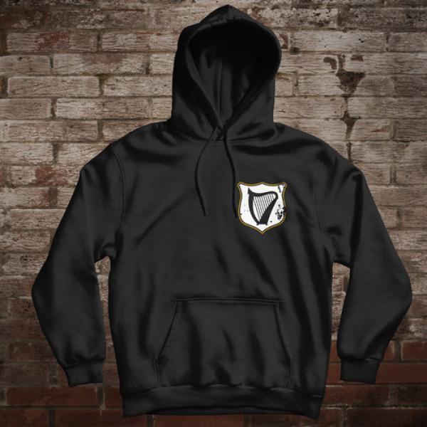 "Ireland ""Celtic Nation I"" Hoodie (black/front&back)"