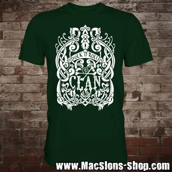 "Clan ""Celtica"" T-Shirt (green/white)"