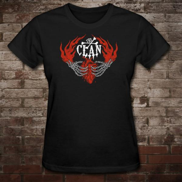"Clan ""Here To Stay"" Girly-Shirt (black)"