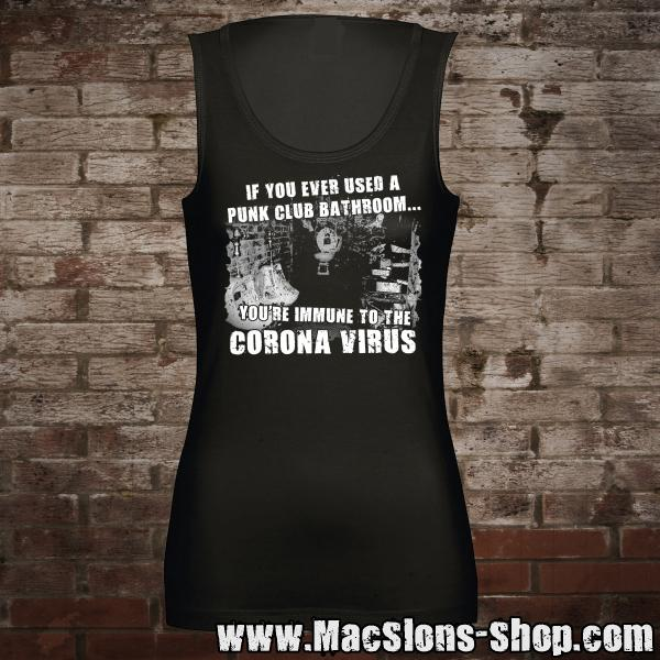 "If You Ever Used... ""Corona Virus"" Girl-Tank-Top (black)"