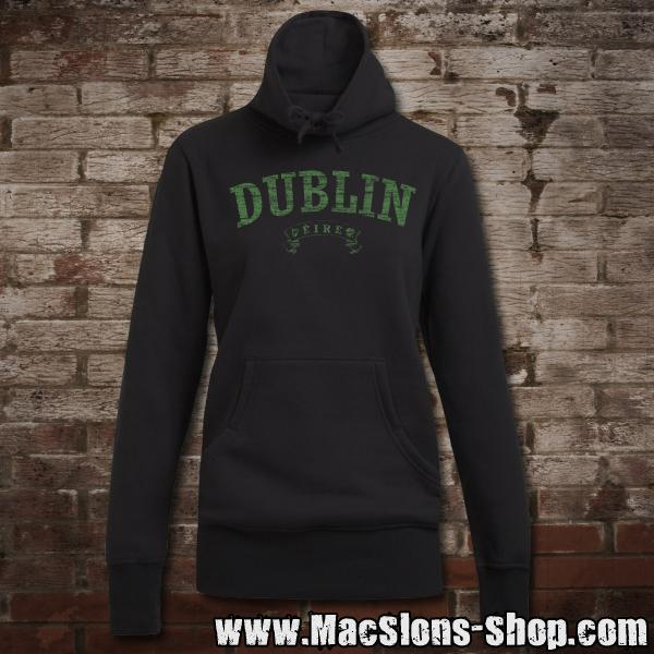 "Dublin ""Éire"" Girly Sweater Turtleneck (black/green)"