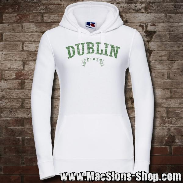 "Dublin ""Éire"" Girly-Hoodie (white/green)"