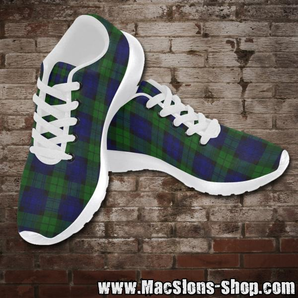 "MacSlon's ""Green/Blue Tartan"" Girl Running Shoes (white)"