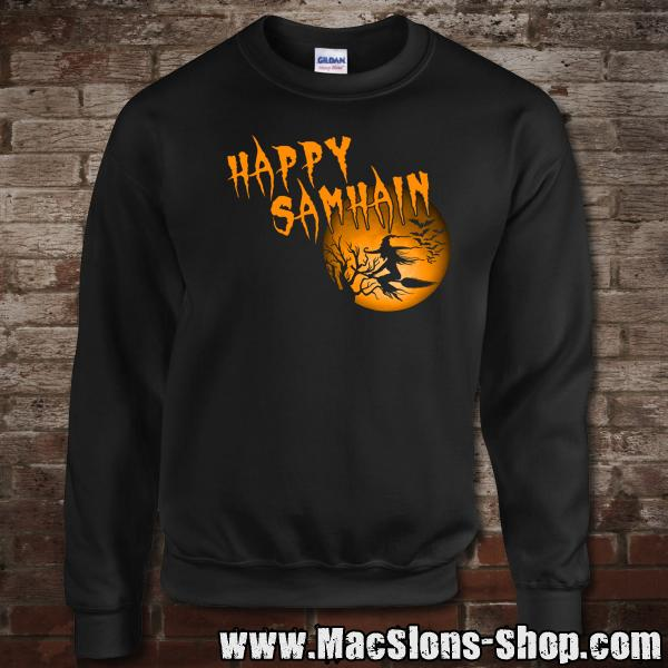 "Happy Samhain ""Moon"" Sweatshirt (black)"