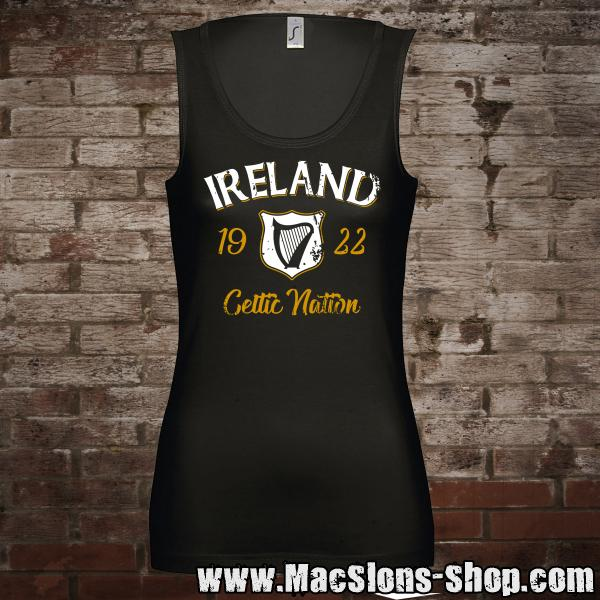 "Ireland ""Celtic Nation I"" Girl-Tank-Top (black)"