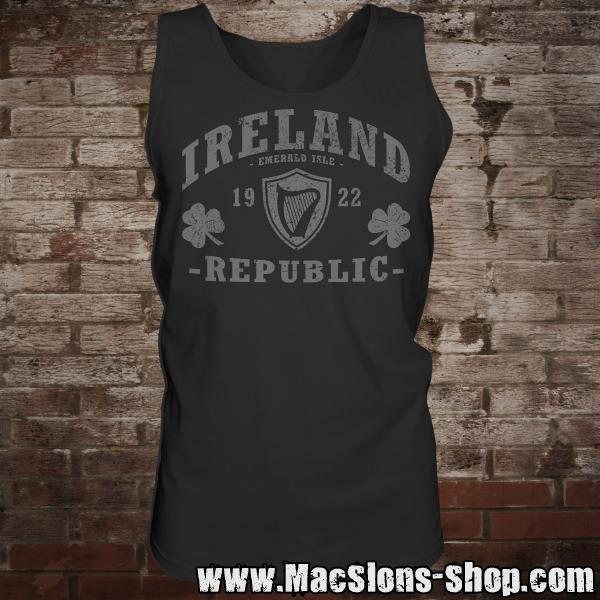 "Ireland ""Republic"" Man-Tank-Top (black)"