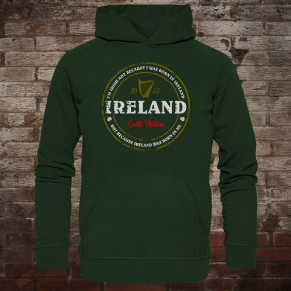 "Ireland ""Born In Me"" Hoodie (green)"