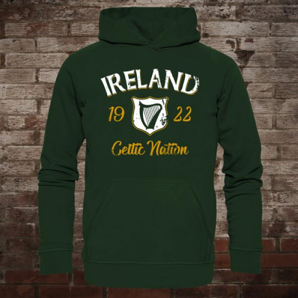 "Ireland ""Celtic Nation I"" Hoodie (green/front)"