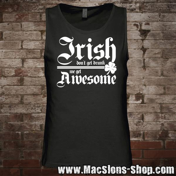 """Irish Awesome"" Tank-Top (black/white)"